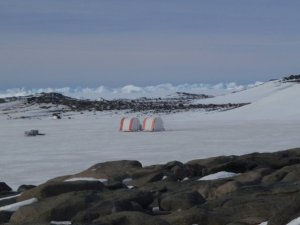 Our camp at Organic Lake, Antarctica during the summer of 2008-9